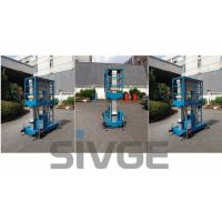 Buy cheap Aluminum Hydraulic Lift Platform , Blue Dual Mast Mobile Elevated Platform product