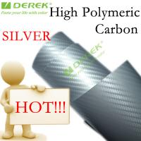 Buy cheap High Polymeric Carbon Fiber Vinyl Car Wrapping Film - Silver product
