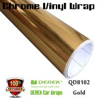 Buy cheap Chrome Mirror Car Wrapping Vinyl Film 3 layers - Chrome Gold product