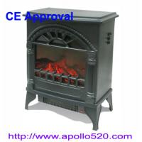 China Log Flame 1500W Electric Fireplace Freestanding on sale