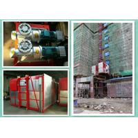 Quality Twin Cage Rack & Pinion Elevator / Construction Site Lift With 2000kg Capacity for sale