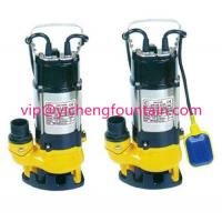 Buy cheap Single Phase Sewage Submersible Pond Pump With / Without Floating Ball 0.18 - 1.1KW product