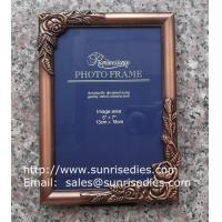 Buy cheap Metal rose picture frames in stock, emboss rose metal photo frames wholesaler in China product