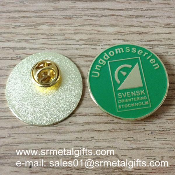 enamel colour filled lapel pins wholesale