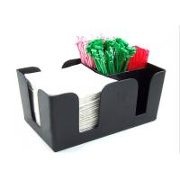 Buy cheap Solid Black Acrylic Tissue Box , Acrylic Dining Table Display Holder product