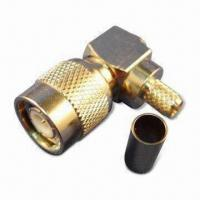 Buy cheap RF Connector TNC Plug R/A Crimp for H155, with Brass/Gold Plated Pin product