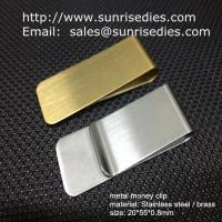 Buy cheap Classic cash money clip credit card holder, custom brushed brass cash money clips product
