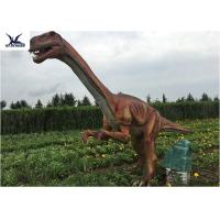Outside Zoo Park Decorative Realistic Dinosaur Models Water And Smoke Spraying