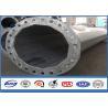 Quality High Voltage Big Steel Tubular Pole Column in Transmission Line Post Hot Dip Galvanized for sale