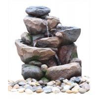 Buy cheap Professional 3 Tier Outside Rock Water Fountains For Garden Ornaments product