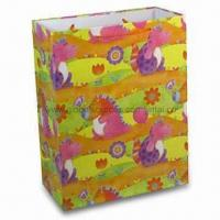 Buy cheap Paper Gift Bag, Suitable for Packing Purposes, OEM Designs are Welcome product