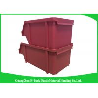 Buy cheap 20L Shelving Industrial Plastic Totes , Hardware Storage Containers Space Saving product