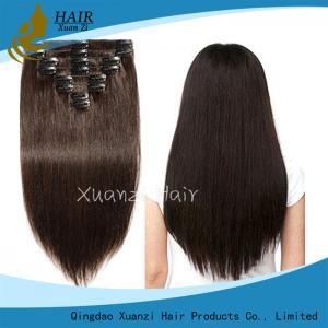 Buy cheap 100% Brazilian Remy Hair Silky Straight Wave Hair Clip 10
