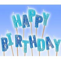 Buy cheap Glitter Letter Shaped Birthday Candles 100% Paraffin Non Toxic For Celebration product