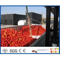 Buy cheap Tomato Sauce Making Machine Tomato Paste Production Line With Hot / Cold Break System product