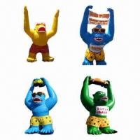 Buy cheap Inflatable Gorilla, Customized Shapes, Colors and Sizes are Accepted product