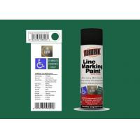 Buy cheap AEROPAK for road with SGS fresh green color 500ml Linie Marking Spray Paint from wholesalers