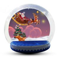 Buy cheap Transparent Inflatable Human Snow Globe Photo Booth With Blower EN71 product