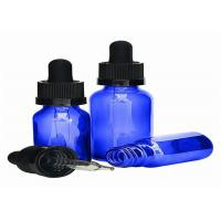 Buy cheap Portable Blue Glass Dropper Bottles Multifunctional High Durability With Even Thickness product