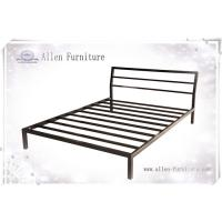 Buy cheap Metal Bed Queen Size with Headboard Black from wholesalers