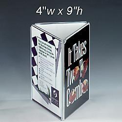 Buy cheap Three Sides Acrylic Menu Holder product
