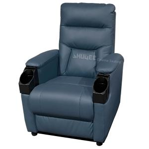 Buy cheap Genuine Leather Home Cinema Seats VIP Sofa With Inclined Cup Holder product