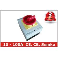 Quality Surface Mounted 32A Rotary Isolator Switch 4 Pole / Electrical Isolation Switch for sale