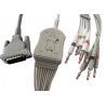 Buy cheap Hellige EK403 EKG ECG Patient Cable Din Style DB 15pin AHA / IEC Long Lifespan product