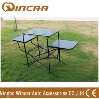 Buy cheap PVC polyester Outdoor Camping Tables , Black / Sliver Portable Grill Barbecue Table product