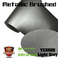 Buy cheap Matte Metallic Brushed Vinyl Wrapping Film - Matte Metallic Brushed Light Grey product
