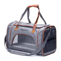 Buy cheap Grey Airline Approved Pet Carrier Bag For Small Dogs Fits Underneath Airplane Seat product