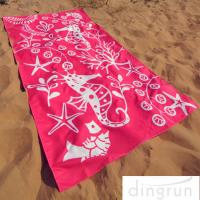 Quality Full Color Reactive Custom Printed Beach Towels Easy Carrying Eco Friendly for sale
