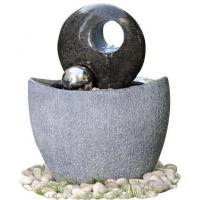 Buy cheap Polished Finishing Contemporary Sphere Garden Fountain With Lights product