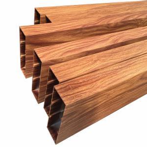 Buy cheap 3D Wood Grain Architecture Aluminium Rectangular Tube product