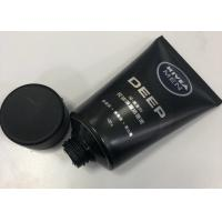 Buy cheap Men Facial Cleanser Plastic Cosmetic Packaging Tube Combined With Silkscreen Printing product