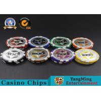Buy cheap ABS Casino Poker Chips , Gambling Plastic Sticker Poker Chips Coins Yangming product
