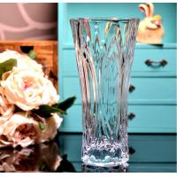 Buy cheap Clear Castle Decorative Glass Vases Stock Handwash Classical Type For Flower product