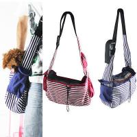 Buy cheap Striped Canvas Sling Bag Pet Carrier For Dog/Cat Travel Bag Red,Blue product