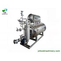 China industrial automatic glass pet pp bottle fruit juice autoclave machine with steam spraying sterilization method on sale