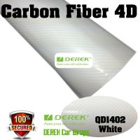 Buy cheap 4D Glossy & Shiney Carbon Fiber Vinyl Wrapping Films--White product