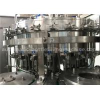 Buy cheap 6.57KW Power Carbonated Drink Filling Machine PE Srew Cap For Gas Contained Beverage product