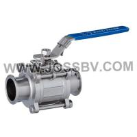Buy cheap Three-Piece Sanitary T-Clamp Ball Valve With ISO5211 Mounting Pad product