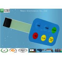 Buy cheap 12mm Non Tactile Embossing Membrane Switch 7 Pin 2.54 mm Pitch Female Connector product