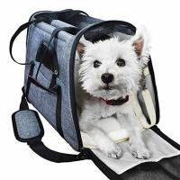 Quality Portable  Airline Approved Pet Carrier Bag With Backpack Belt Safety Locked Zippers for sale