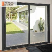 Buy cheap Big Size Black Aluminum Sliding Doors For Dining Room With Thermal Break Design product