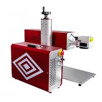 Buy cheap Portable RF Metal Tube CO2 Laser Marking Machine For Leather Wood Engraving product