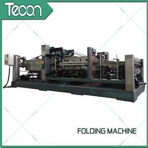 Buy cheap Energy Saving Cement Paper Bag Folding Machine , Bottom Width 100 - 150mm product