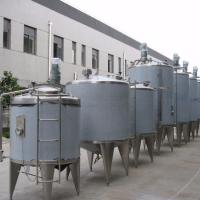 Buy cheap Syrups Mixing / Blending Water Jacketed Tank SUS304 Cylindrical Shape For Food Industries product