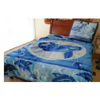 Buy cheap Acrylic Cotton Soft Mink Blanket Bule For Adult , Custom Printed Blankets 220X240CM product