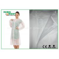 Buy cheap Economical SMS Nonwoven Disposable Lab Coats with Knitted Collar and Velcro product